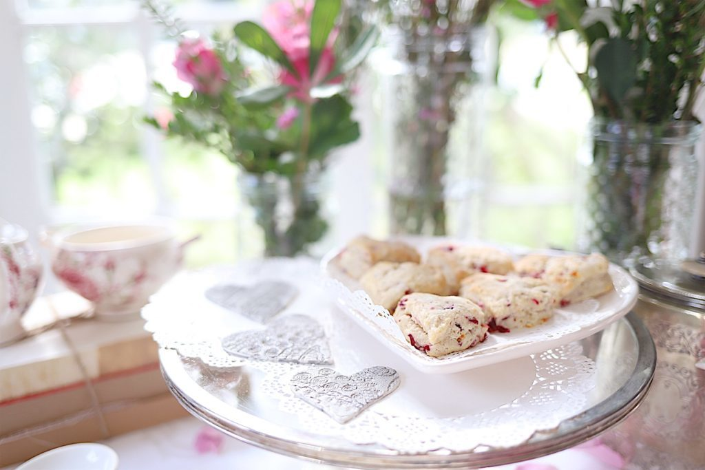 cranberry orange scones at tea