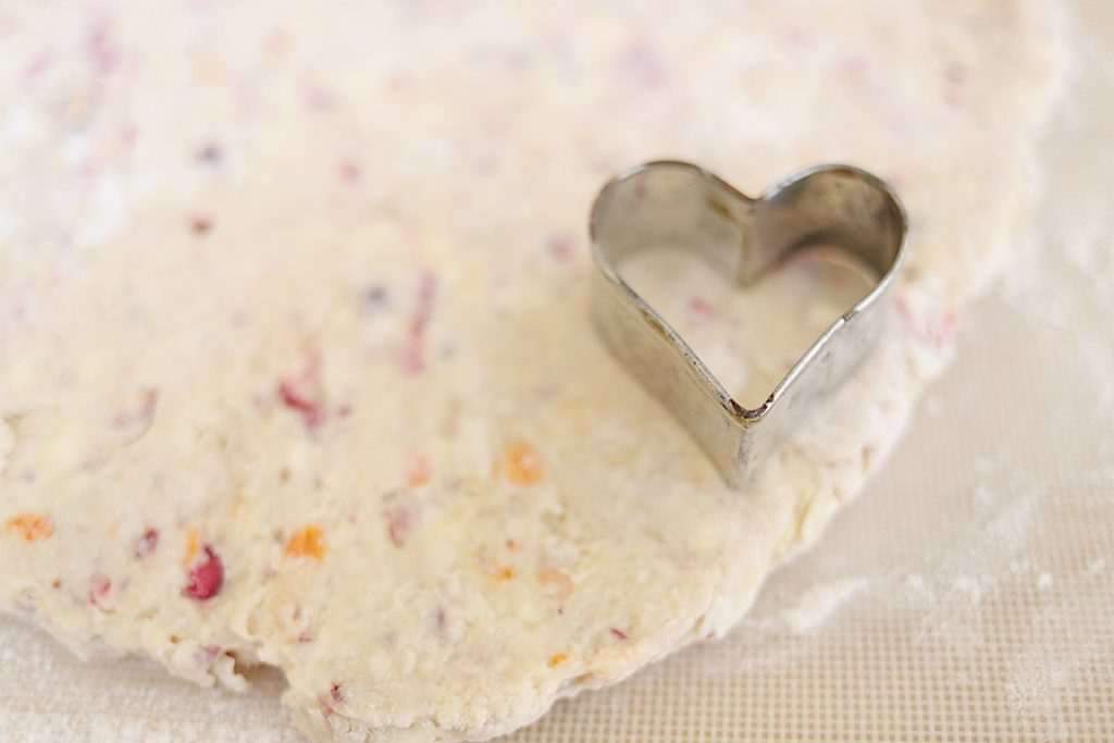 cranberry orange scones for valentines day
