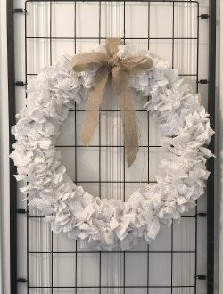 how to make a chenille wreath 2