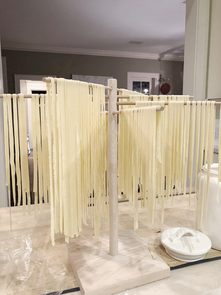 homemade pasta drying rack