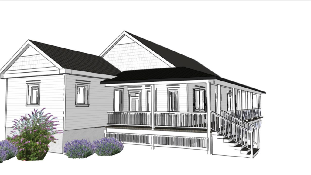 waco fixer upper back porch rendering