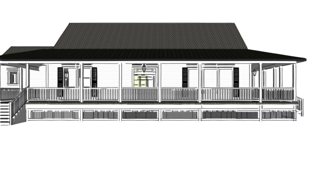waco fixer upper porch rendering