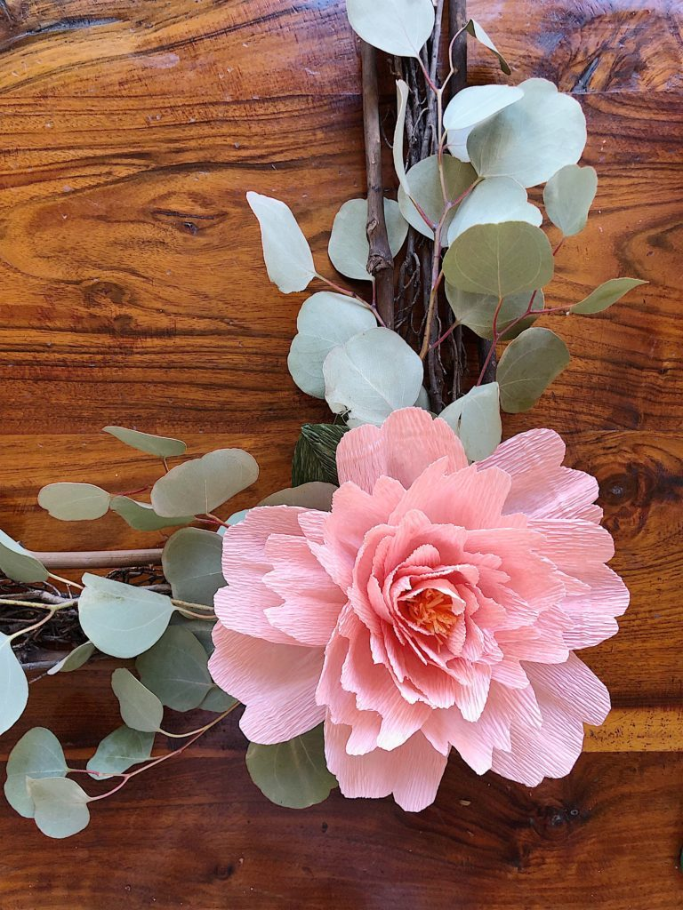 DIY Paper Flowers wreath 8