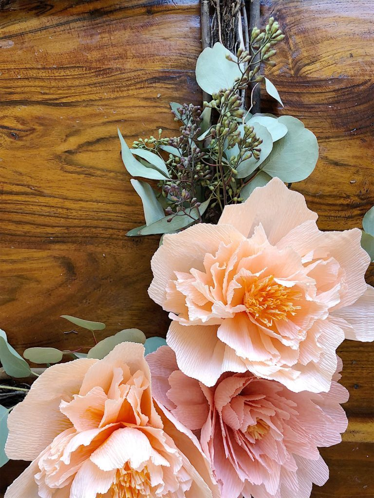 DIY Paper Flowers wreath 9