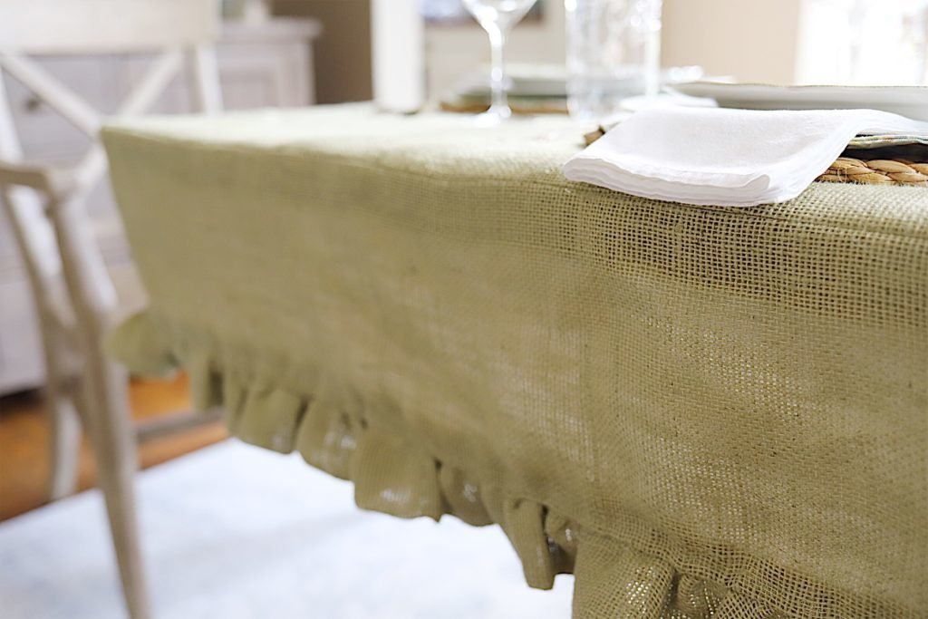 How to Make Paper Flowers burlap table cover