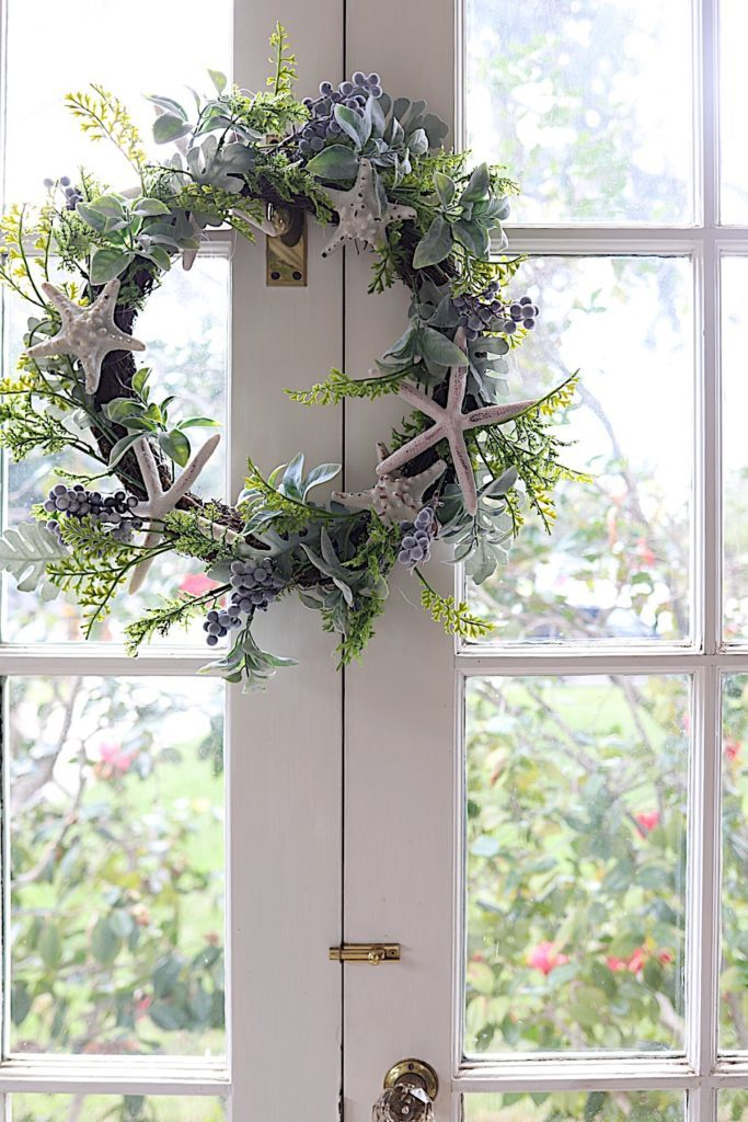 How to Make Paper Flowers coastal wreath