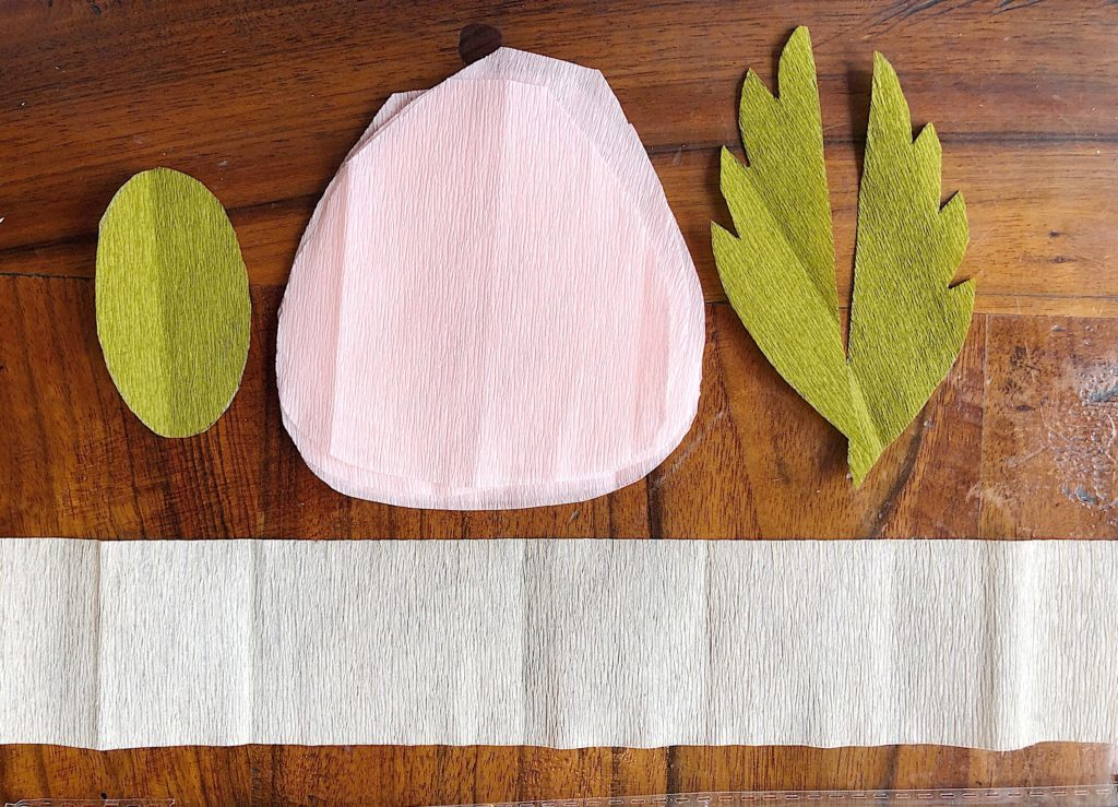 How to Make Paper Flowers cut crepe paper
