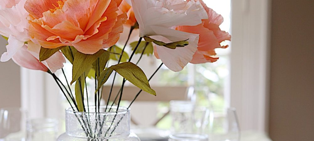 Coastal Inspired Decor and How to Make Paper Flowers with JOANN
