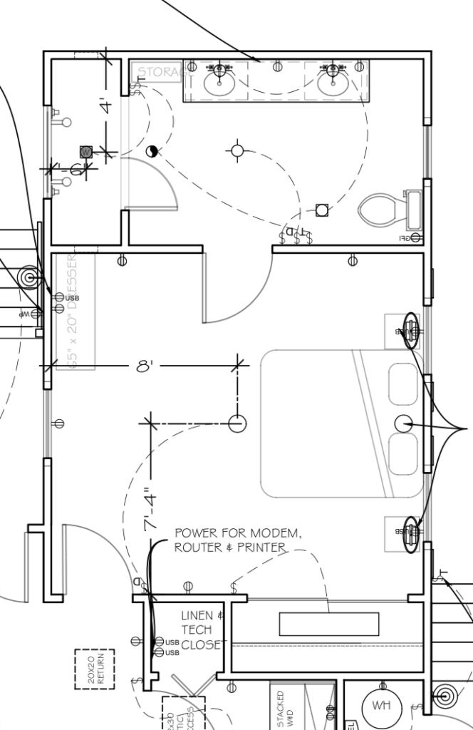 Waco Fixer Upper Master Bath and Bedroom floorplan