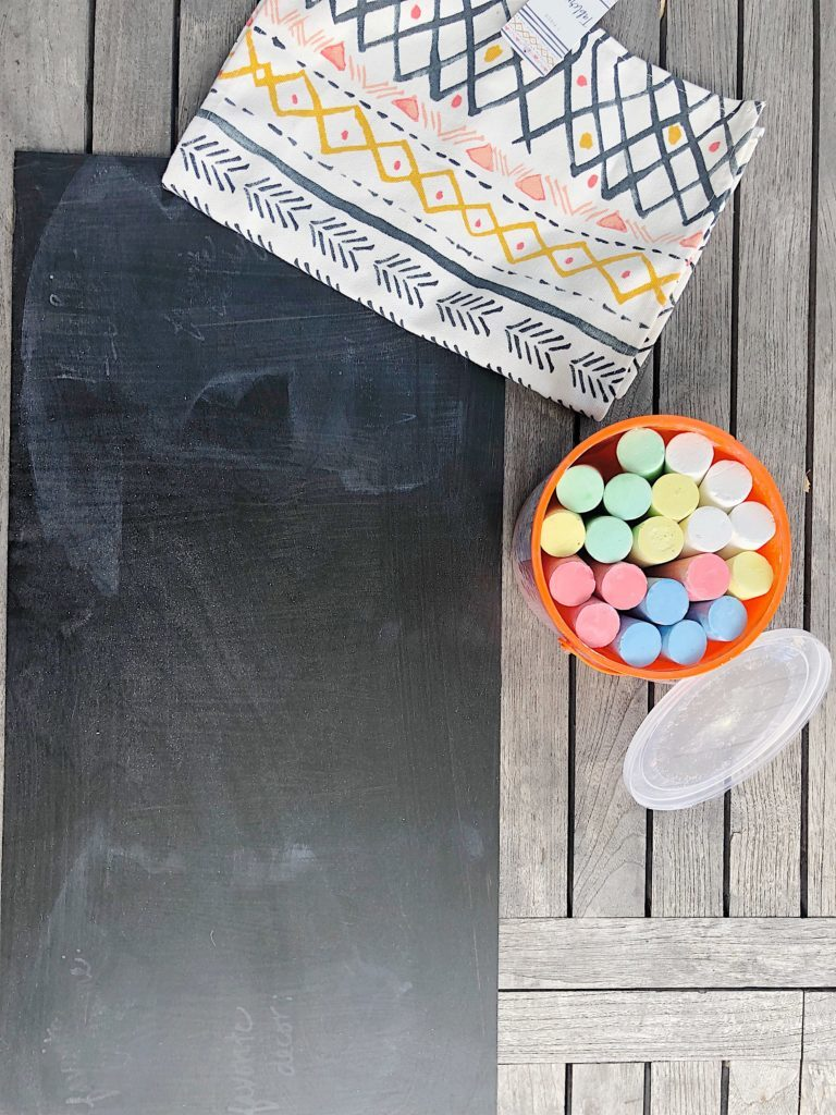 outdoor entertaining chalkbaord placemats