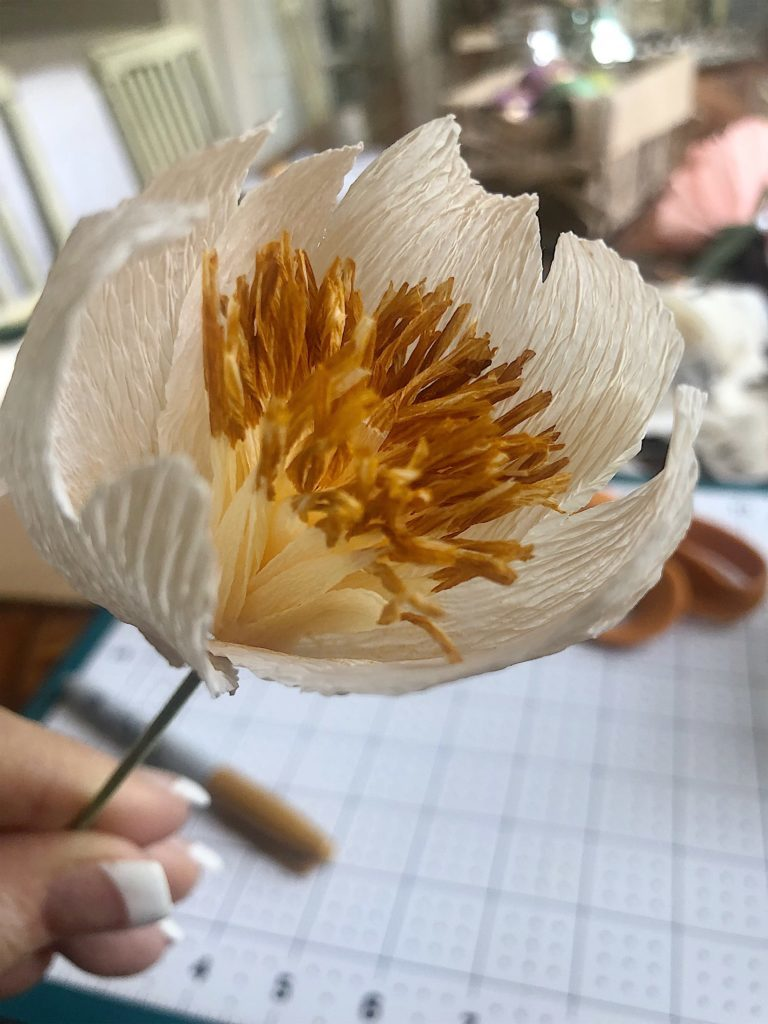 How to make paper peonies 9
