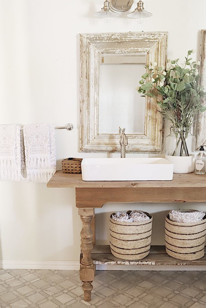 Master Bathroom Reveal decor