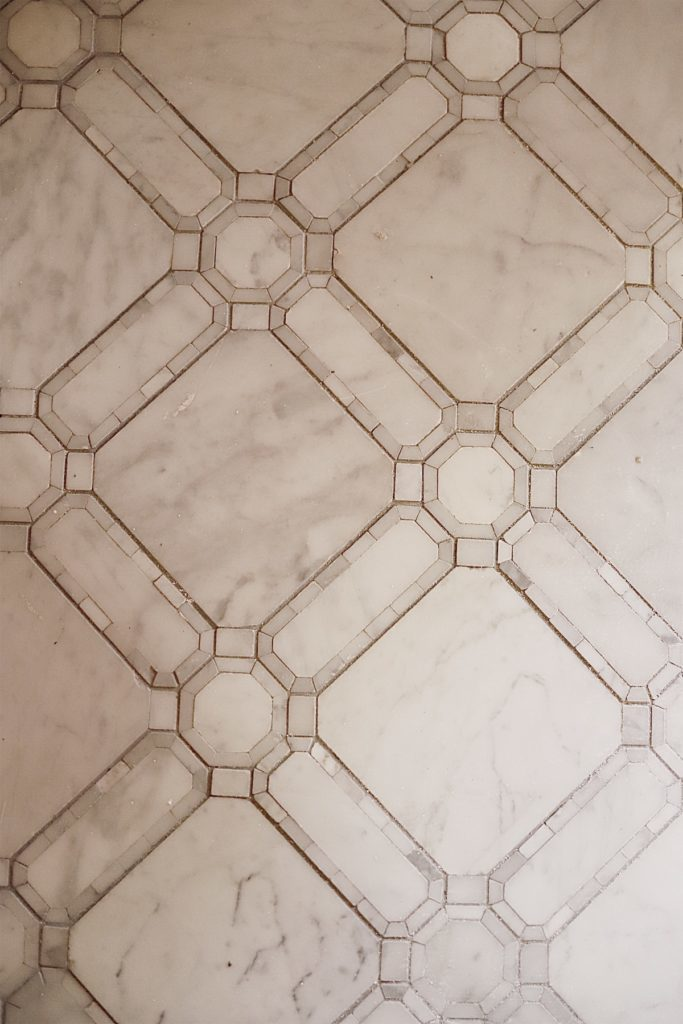 Master Bathroom Reveal floor tile