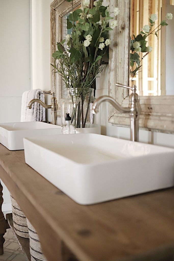 Master Bathroom Reveal vessel sinks