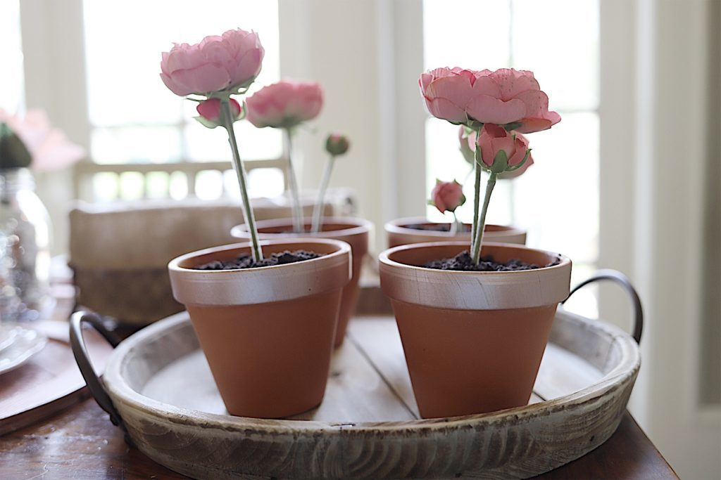 edible flower pot desserts