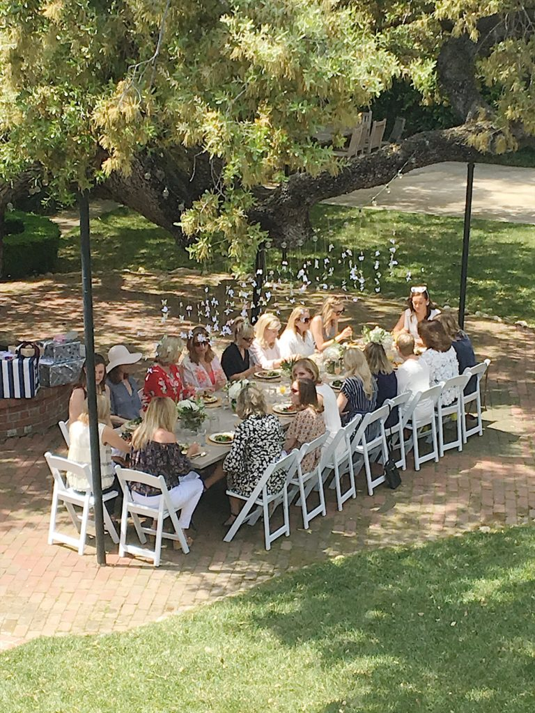 how to plan a bridal shower setting