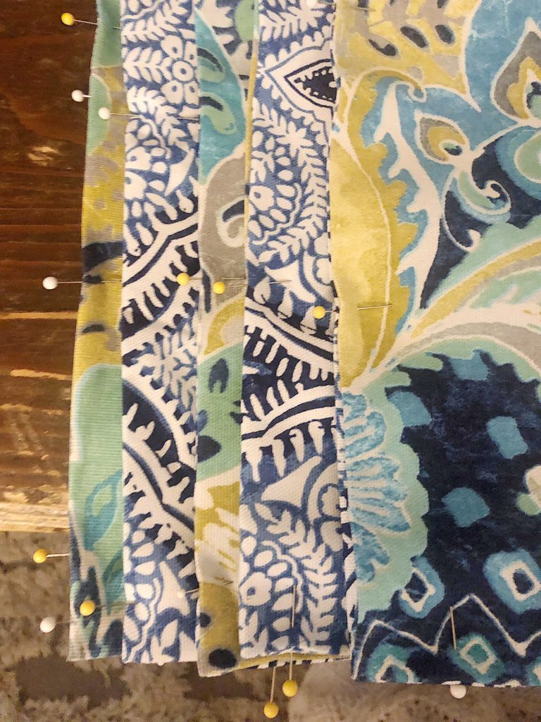 indigo blue placemats and chargers diy 5