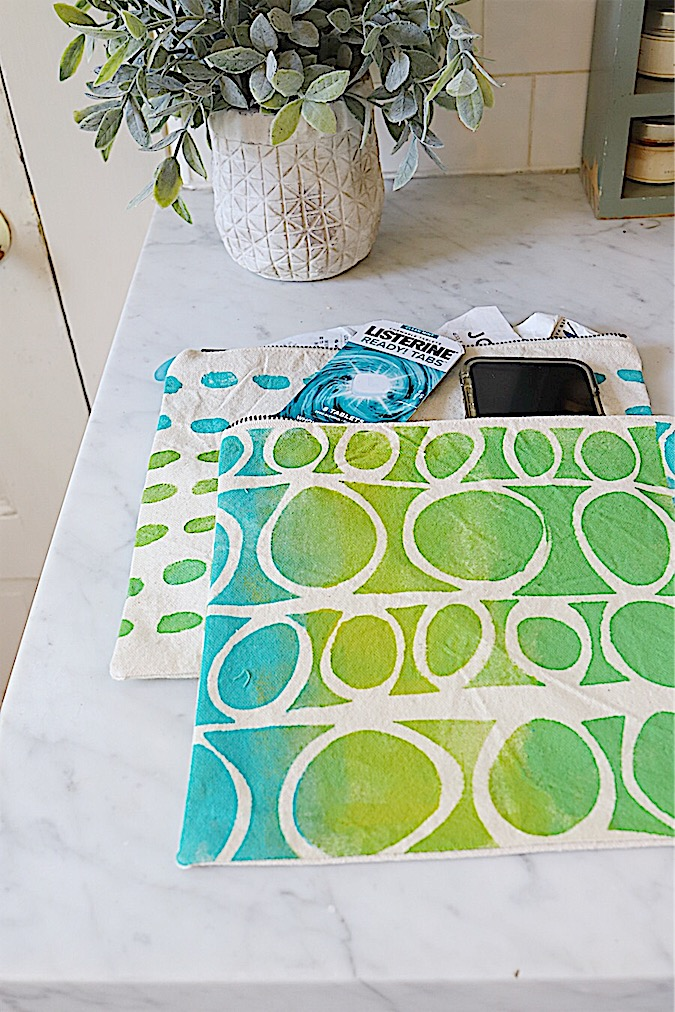 painted canvas bags stencils