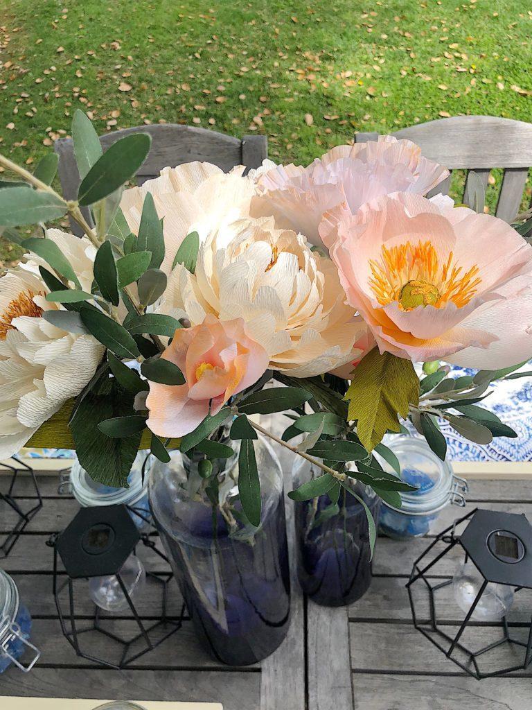 paper flower peonies DIY