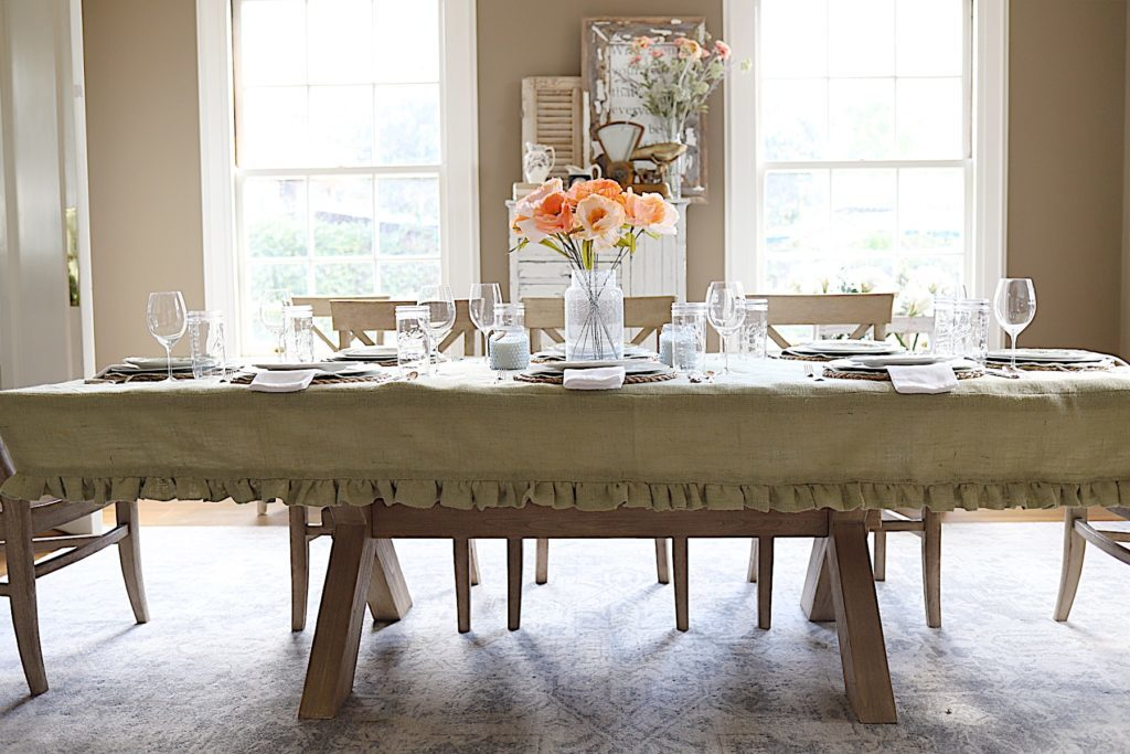 spring paper flower tablescape