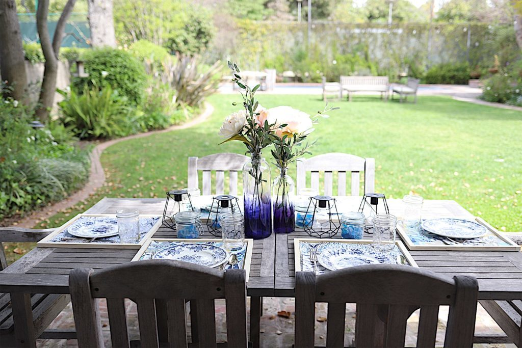 spring porch and table setting