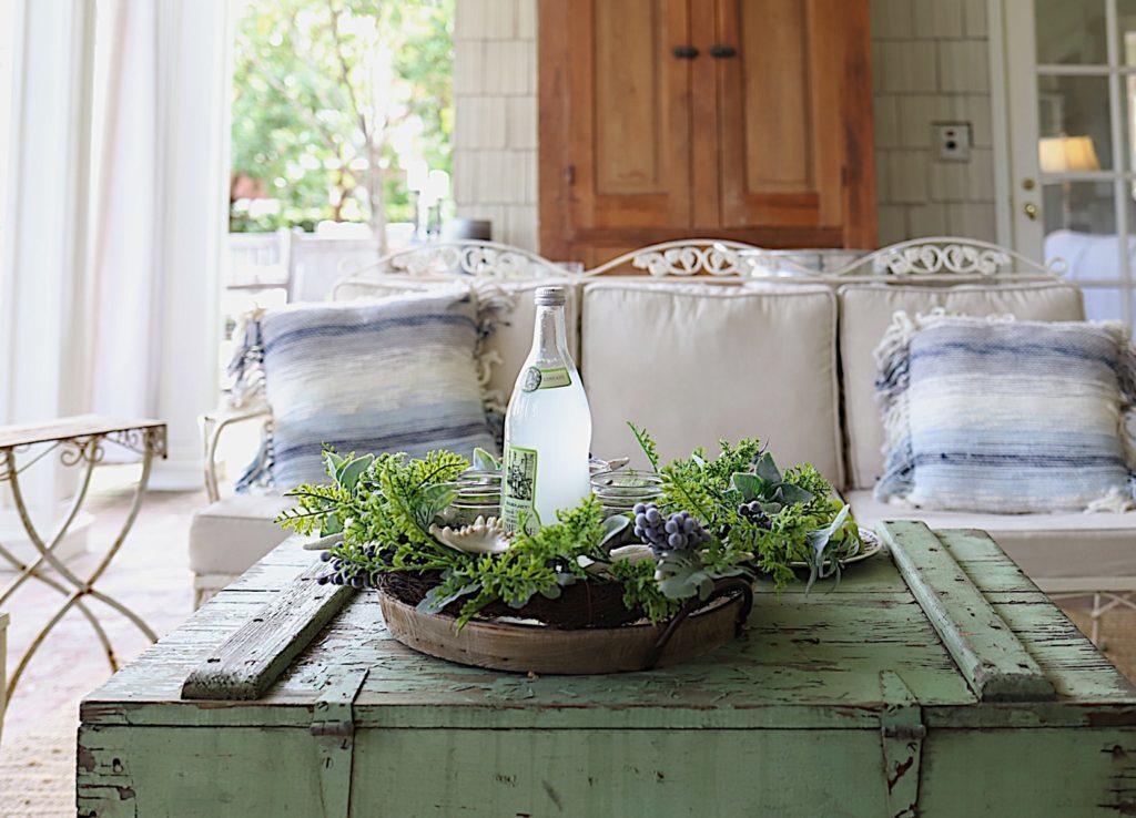 spring porch makeover wreath
