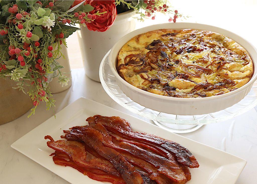 Frittata and Baked Brown Sugar Bacon