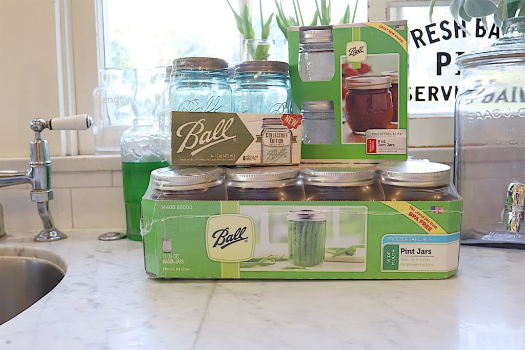 ball jars for jam and jelly