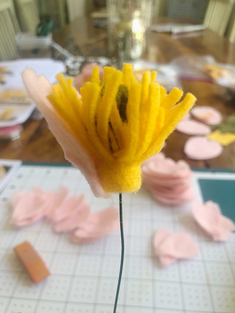 how to make a felt flower peony