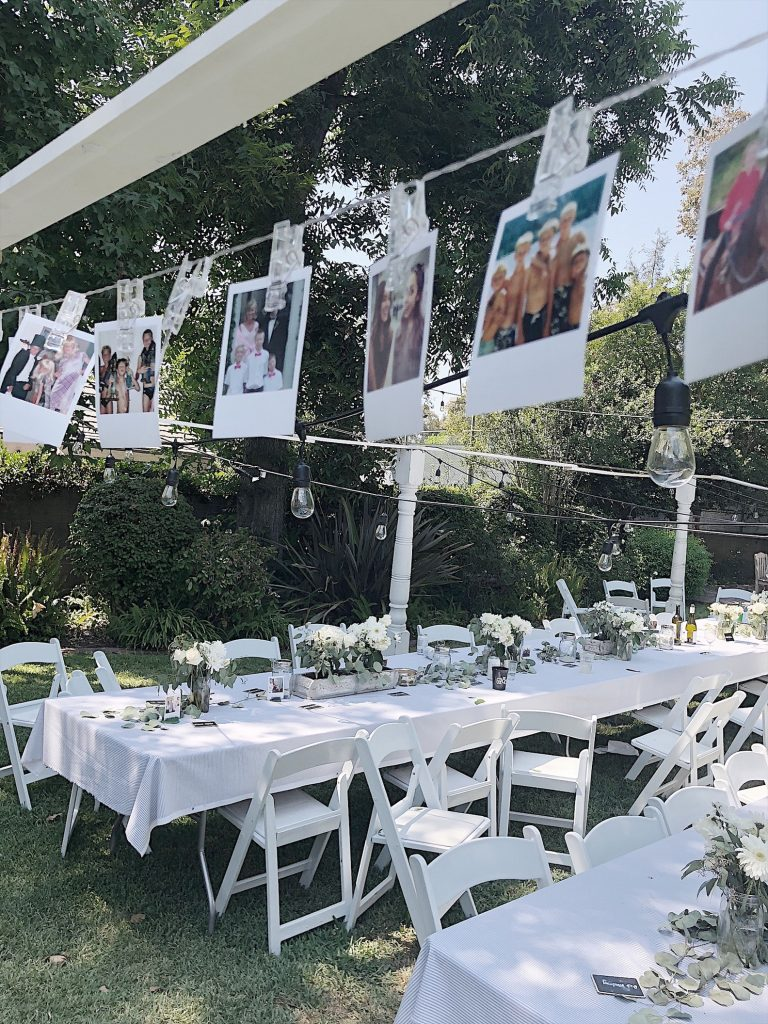 vintage polaroid photos for rehearsal dinner