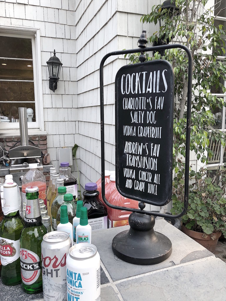 wedding chalkboard cocktail sign