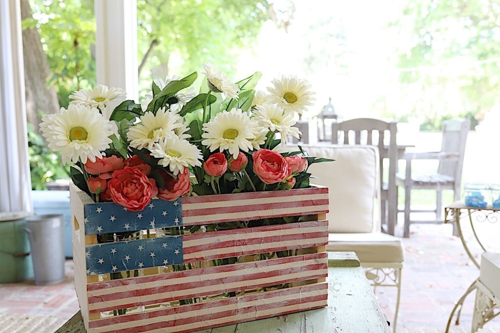 4th of July wooden crate napkins DIY