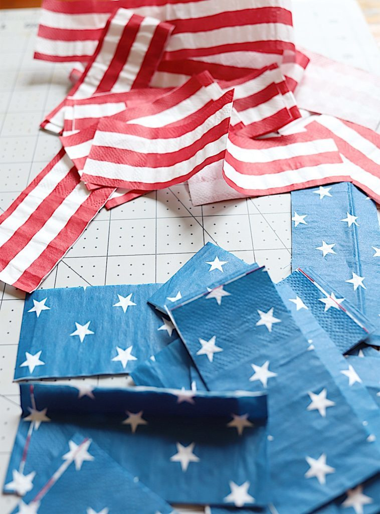 Fourth of July wooden napkins crate