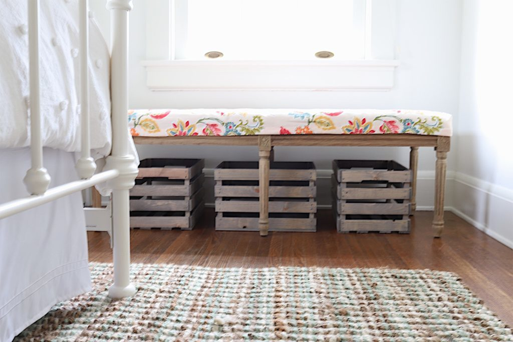 bench fabric cover DIY