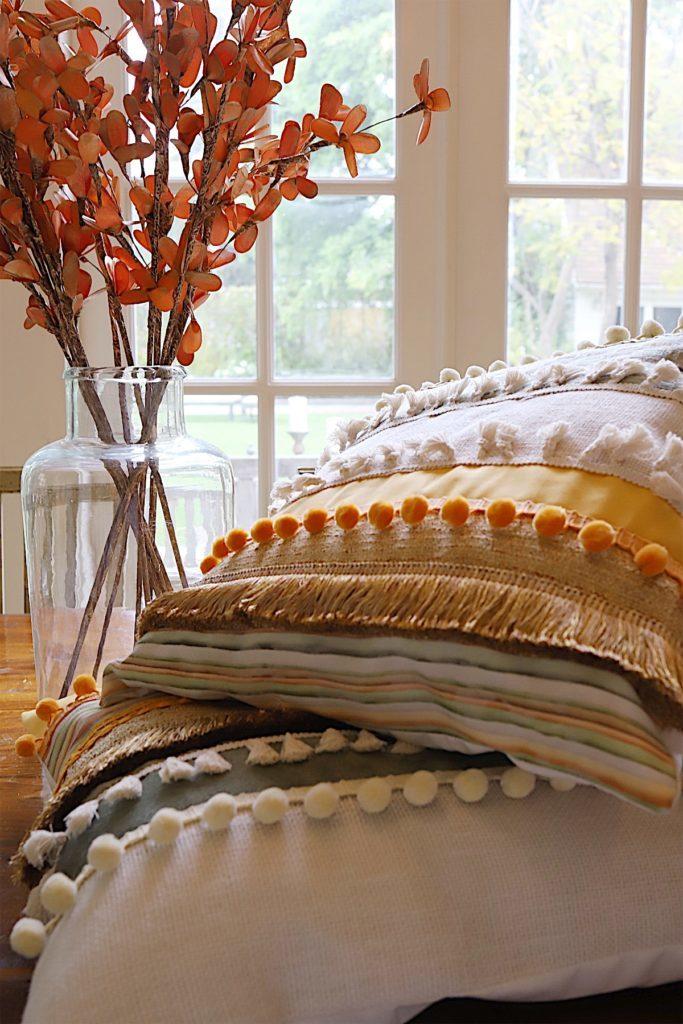 fringe pillow diy