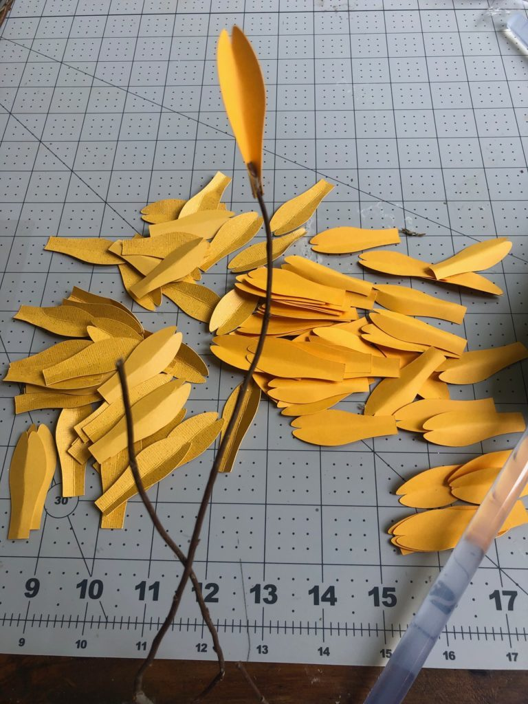 paaper flower branches diy