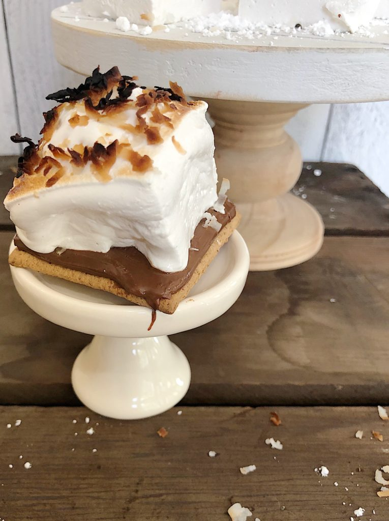 Marshmallow Smores with Toasted Coconut