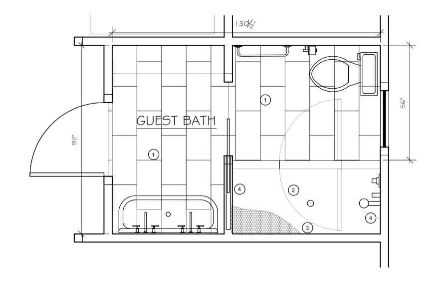 Waco Home Bath Remodel floor plan