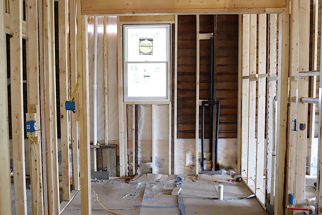 Waco Home Bath Remodel framing