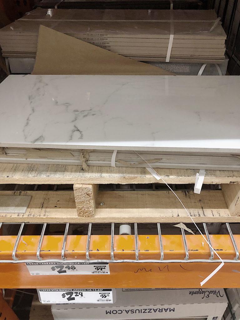 Waco Home Bath Remodel tile selection