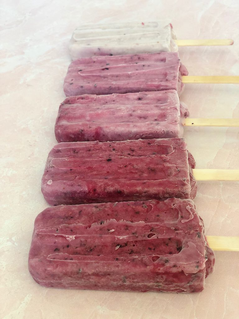 berry homamade popsicles