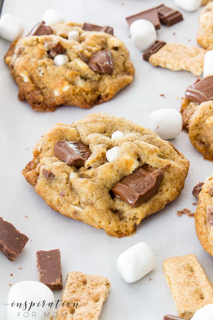 gooey s'mores cookies-7