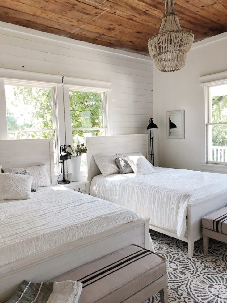 The Bedroom Makeover Reveal in the Waco Fixer Upper