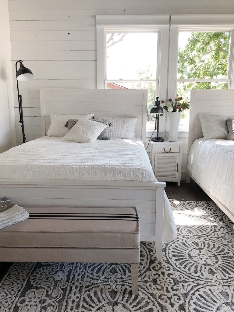 bedroom makeover reveal with bed bath & beyond