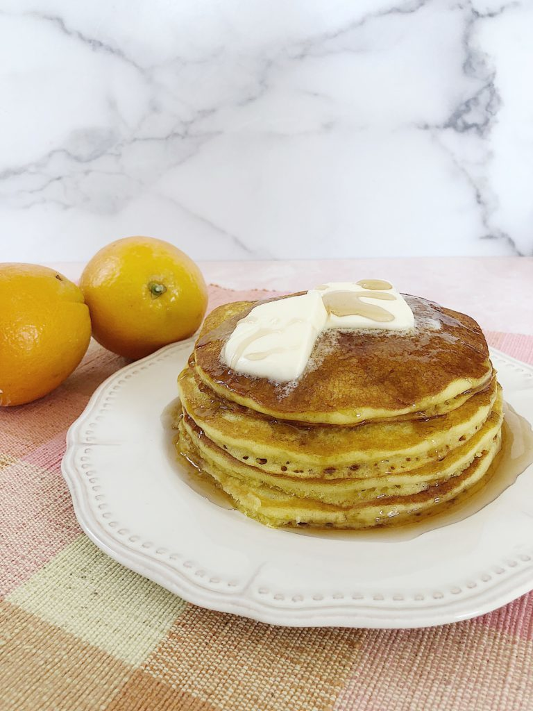 delicious orange juice pancakes