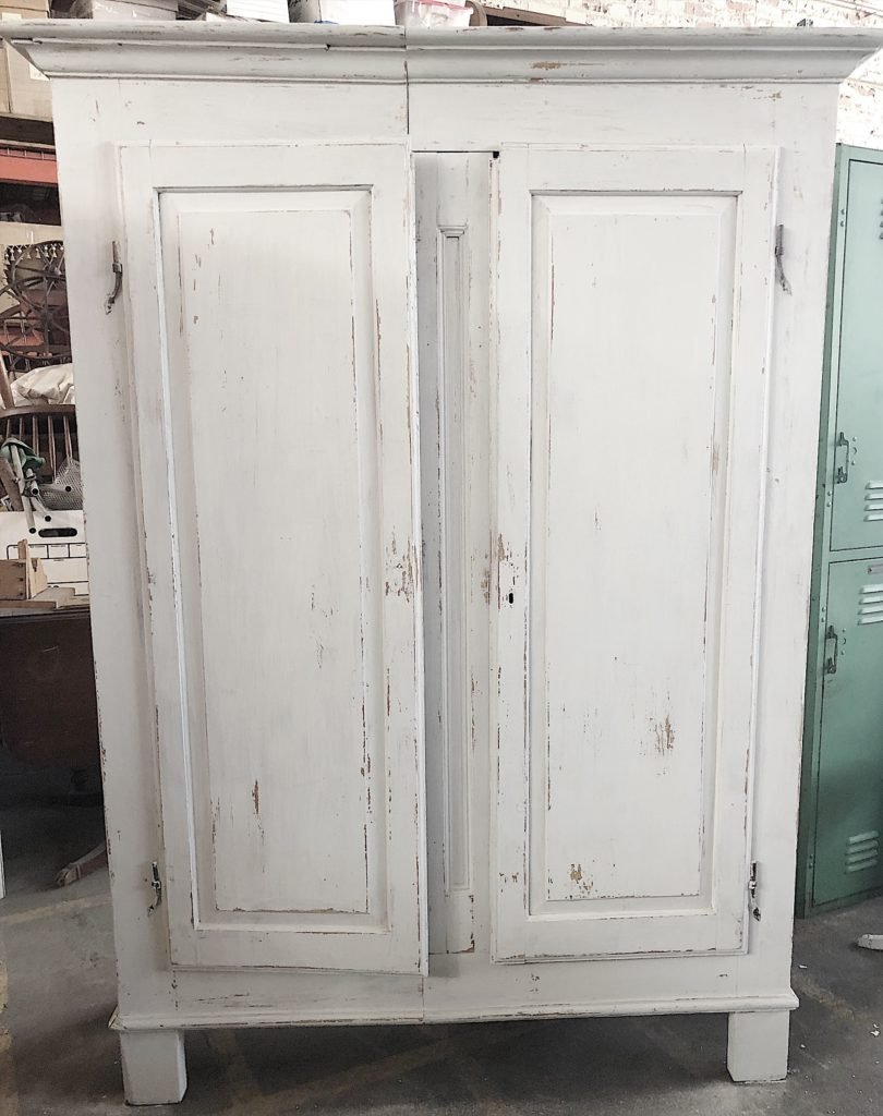 milk painted armoire