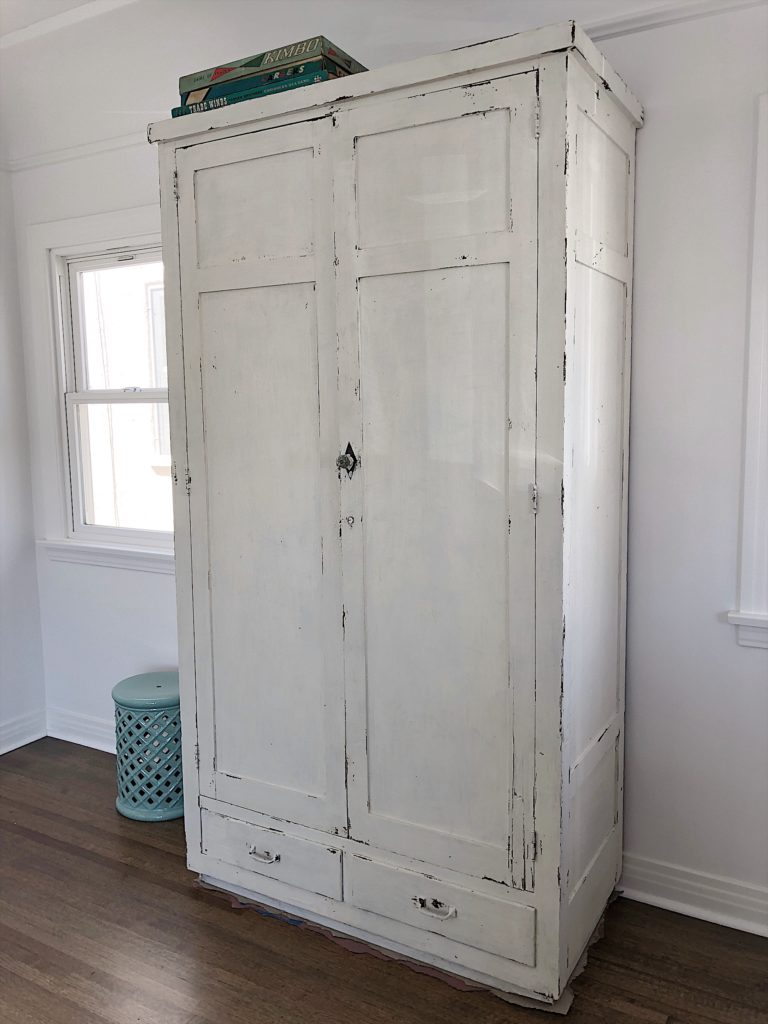 milk painted cabinet 2
