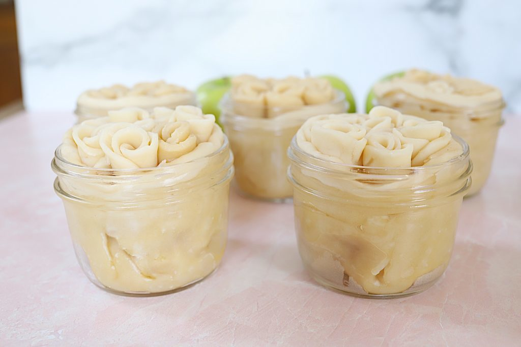 mini apple pies ready for the oven