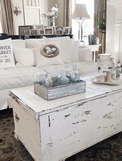 old barn milk painted coffee table