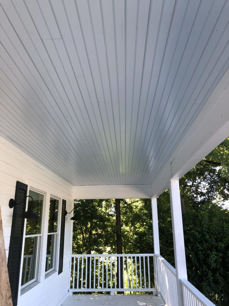 waco fixer upper painted porch ceiling